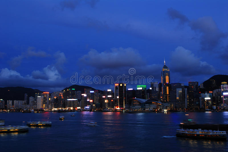 Hong Kong evening view royalty free stock photography