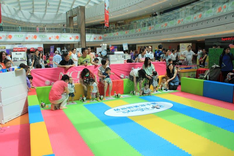 Hong Kong Event del carnaval del bebé del amor de la familia del mundo del ` s de Disney fotos de archivo libres de regalías