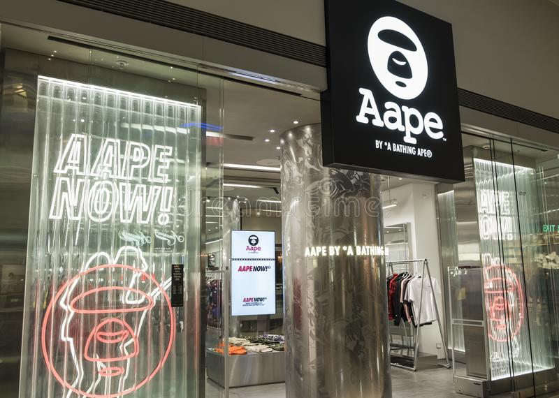 AAPE store in Hong Kong. stock image