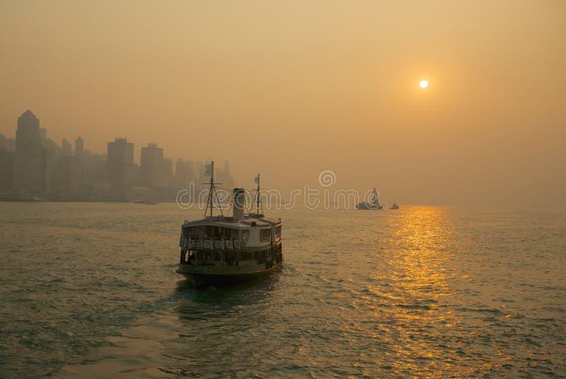 Hong Kong, ferry d'étoile photos stock