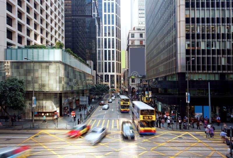 Hong Kong finansområde royaltyfria bilder