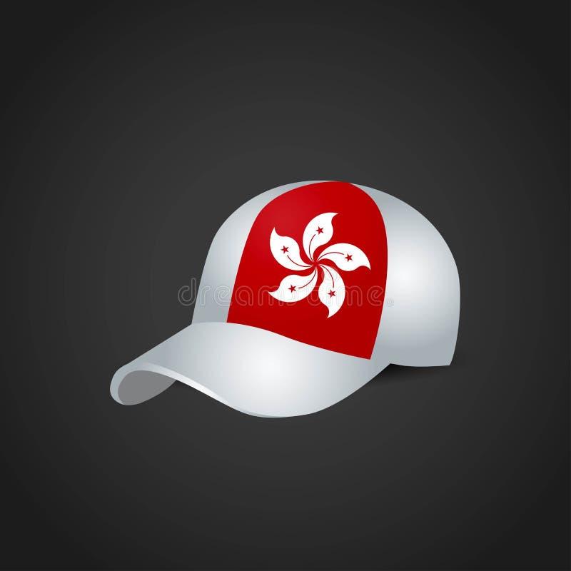 Hong Kong Flag på locket royaltyfri illustrationer