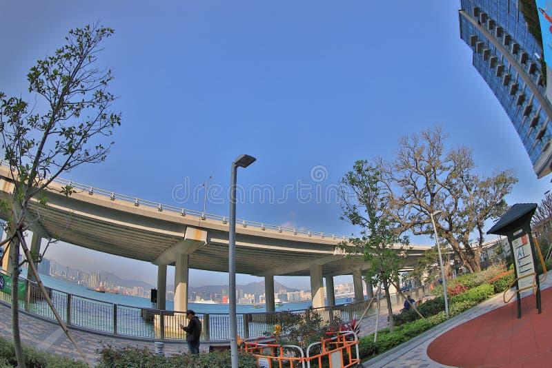 Hong Kong flerfamiljshus på North Point arkivbilder
