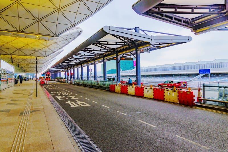 Hong Kong-Flughafeneingang stockbild
