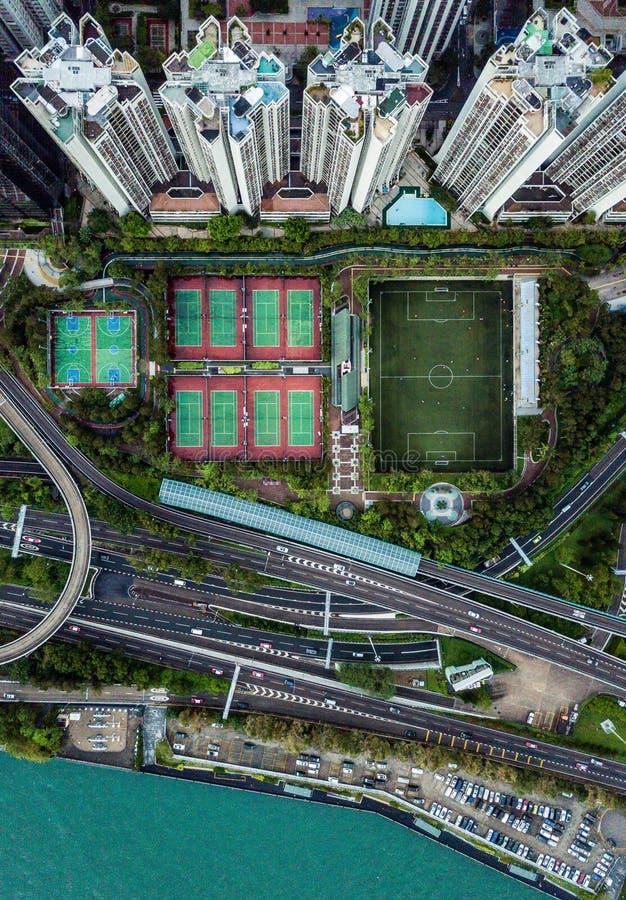 Hong Kong från över royaltyfria foton