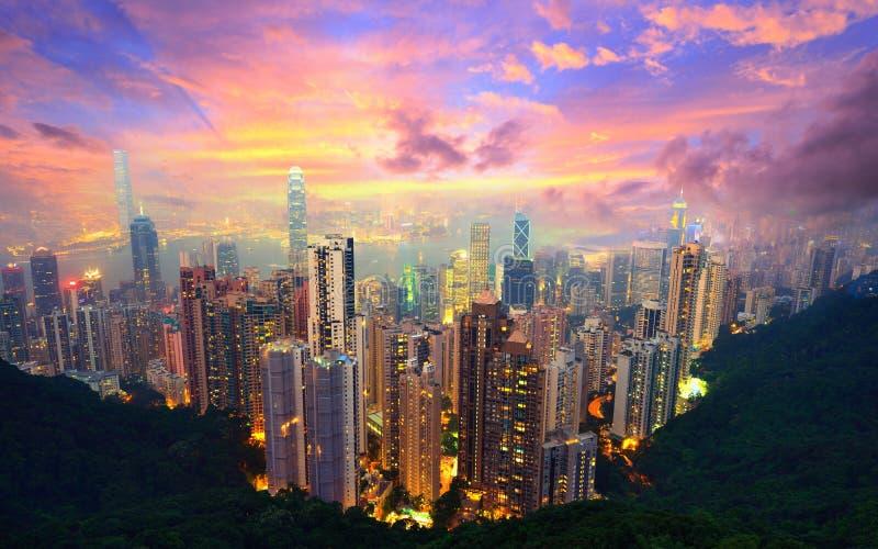 Hong Kong från Victoria Peak royaltyfria bilder