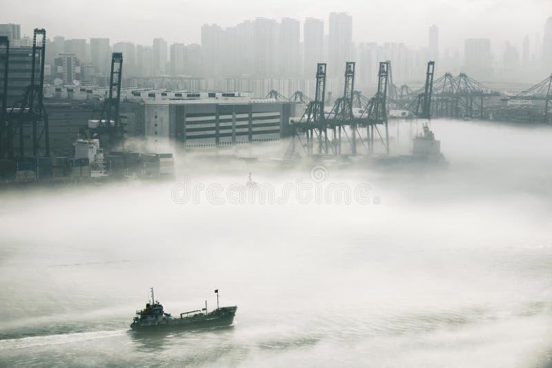 Hong Kong-Frachthafen stockbilder