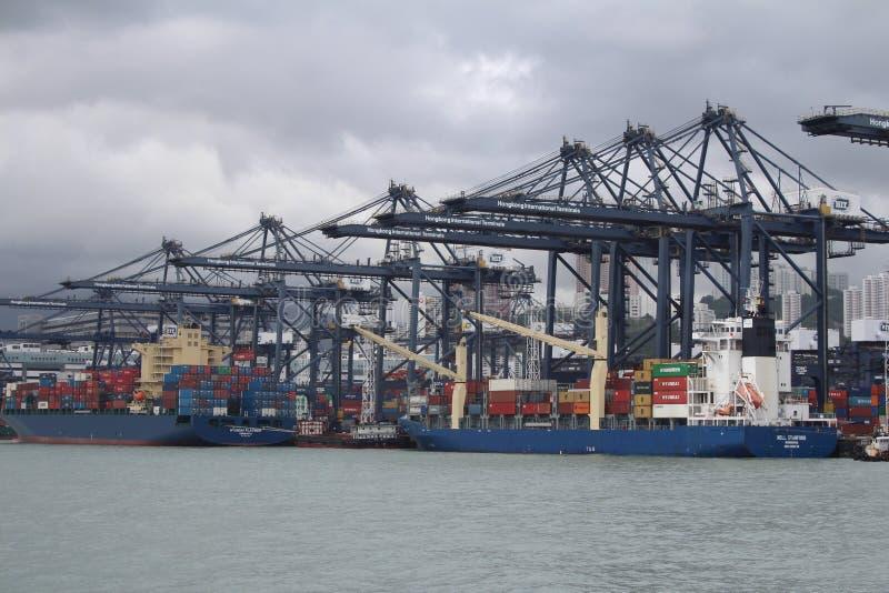 Hong Kong Freight Harbor arkivbild