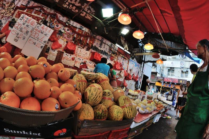 Hong Kong Fruit marknad arkivfoton