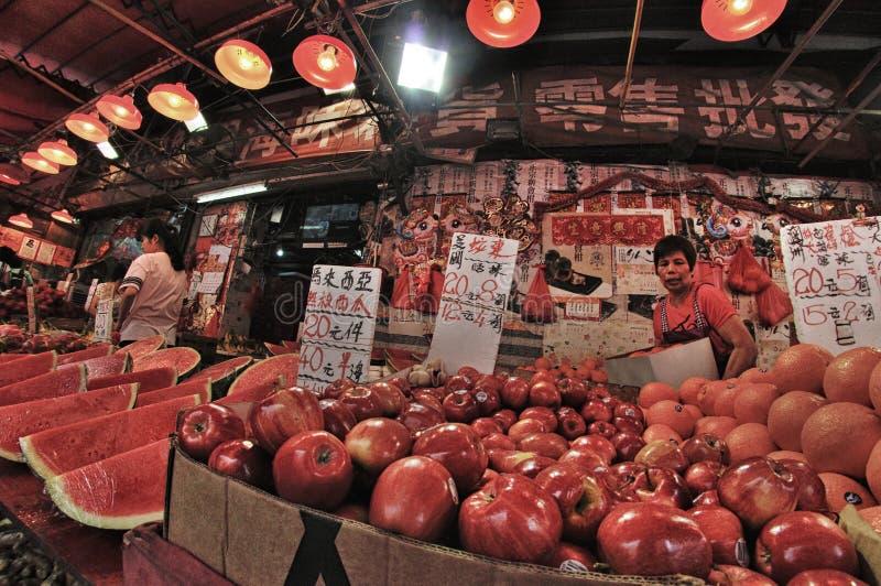 Hong Kong Fruit marknad royaltyfri fotografi