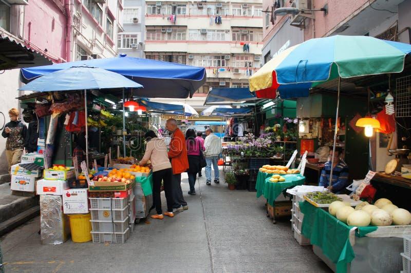 Hong Kong gatamarknad arkivfoto