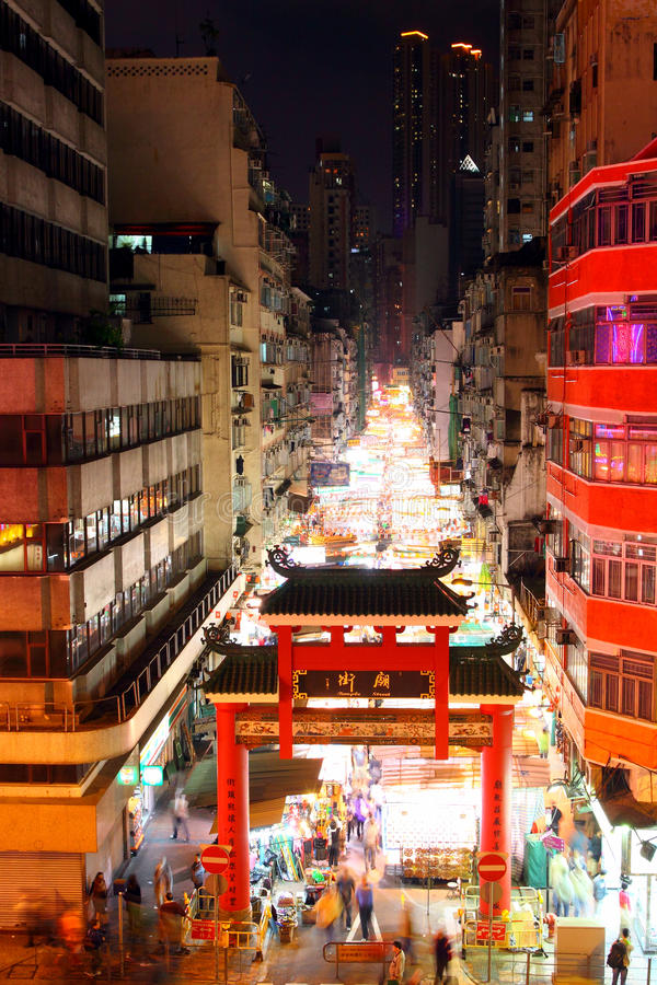 Hong Kong gatatempel royaltyfria bilder