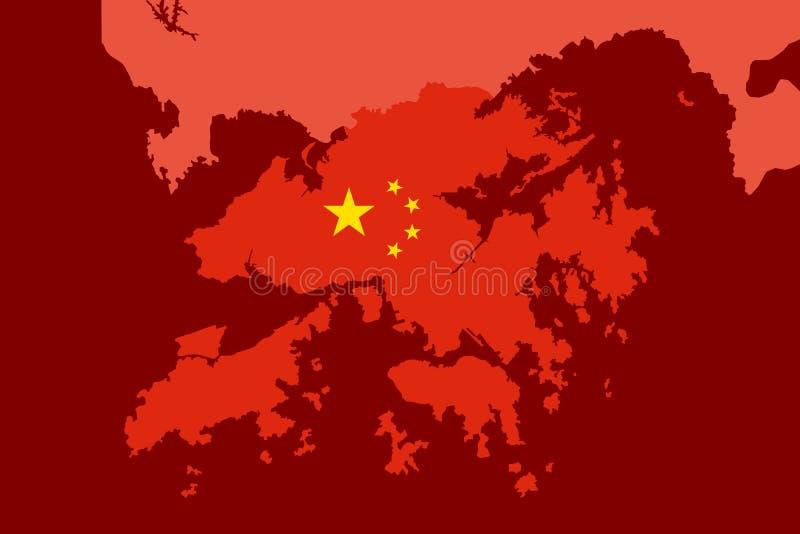 Hong Kong is geïntegreerd in vasteland China royalty-vrije illustratie