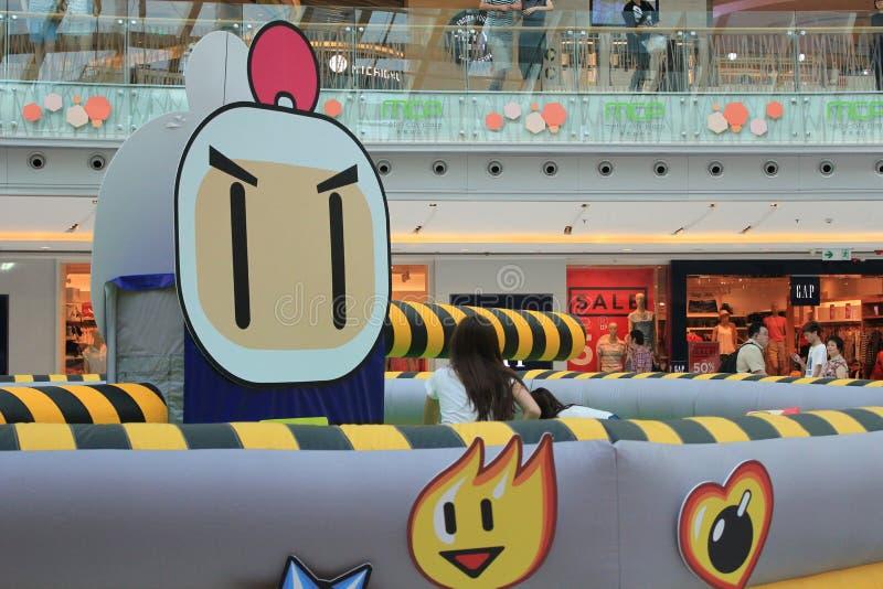 Hong Kong 2015 GEGEN Bomberman-Spielereignis stockfotos