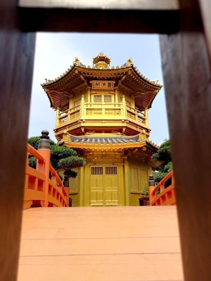 Hong Kong Golden Castle lizenzfreie stockbilder