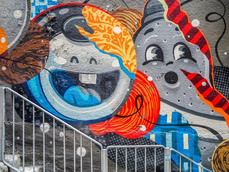 Hong Kong Graffiti. This is a street graffiti in Central, Hong Kong. Graffiti is a kind of street art in Hong Kong. Central is one of the most Chinese and stock photo