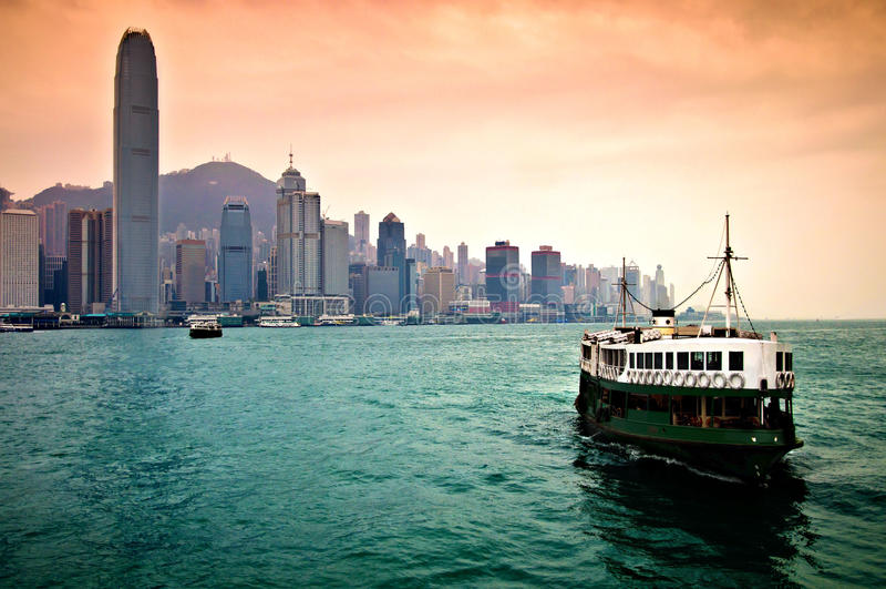 Hong Kong hamn royaltyfri bild