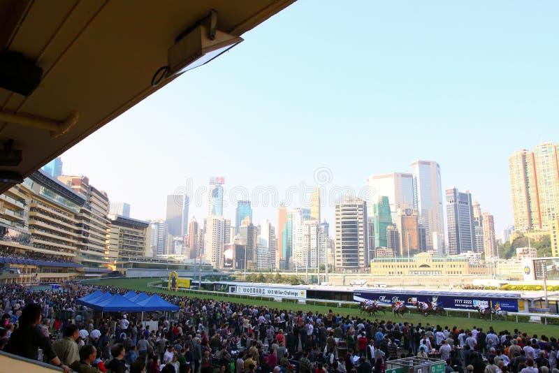 Hong Kong : Happy Valley Racecourse. Racegoers in the Happy Valley Racecourse, Hong Kong royalty free stock images