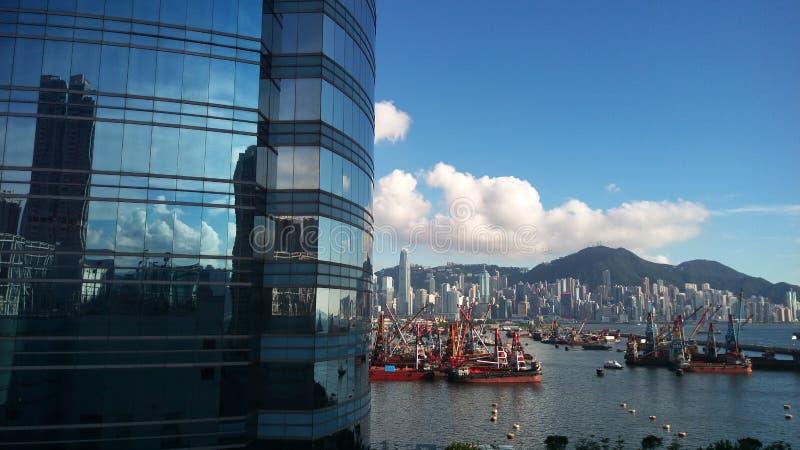 Hong Kong-harber Ansicht lizenzfreies stockbild