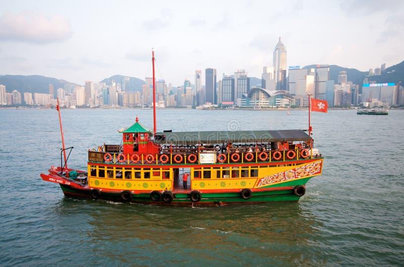Hong Kong Harbor. Hong Kong Tsim Sha Tsui Harbor stock photo