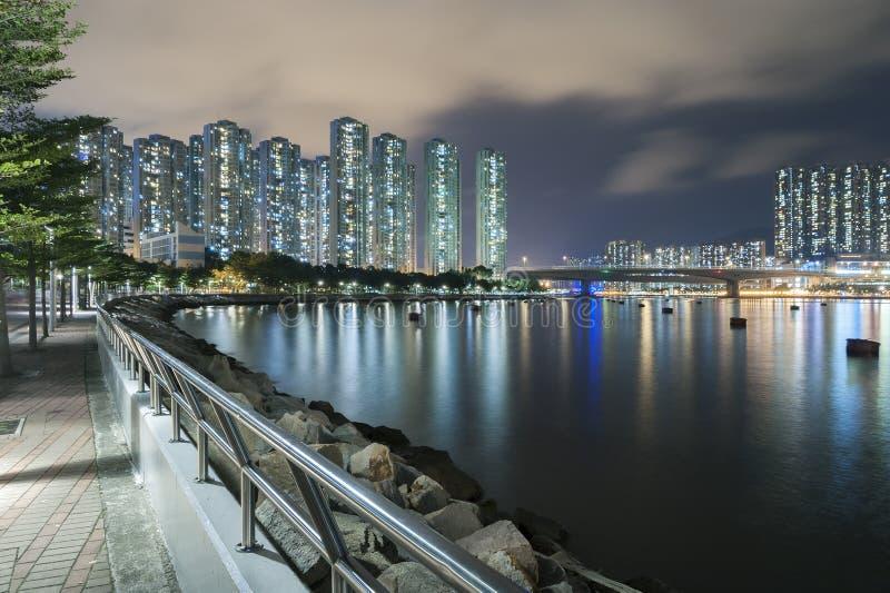Hong Kong Harbor at night. Skyline and harbor of Hong Kong city at night royalty free stock images