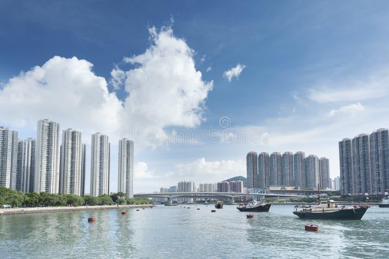 Hong Kong Harbor. Panorama view of Hong Kong Harbor royalty free stock photography