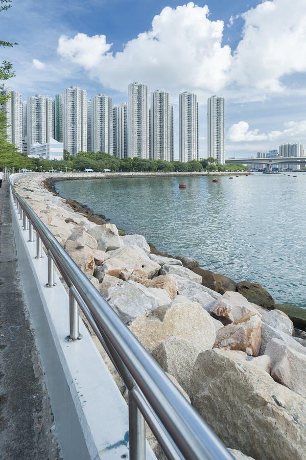 Hong Kong Harbor. Seaside of Hong Kong Harbor stock image