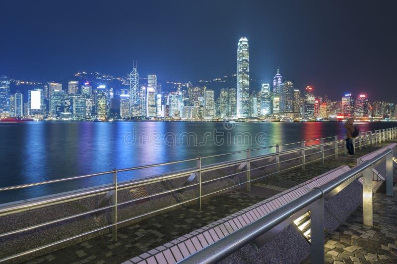 Hong Kong harbor. Victoria Harbor of Hong Kong royalty free stock photo
