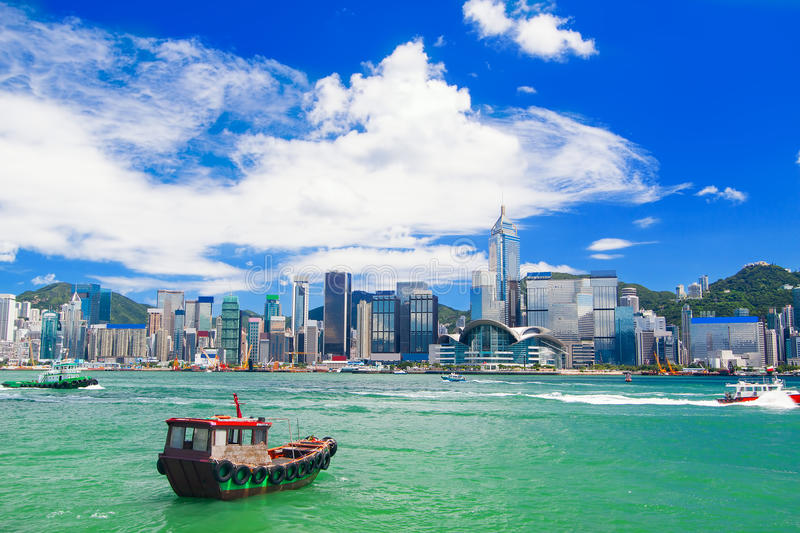 Hong Kong harbour stock image