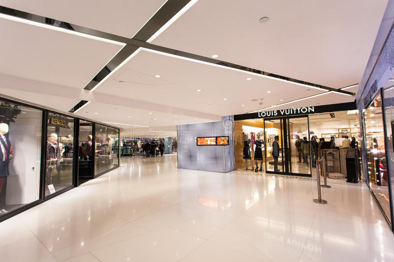 Hong Kong Harbour City store stock images
