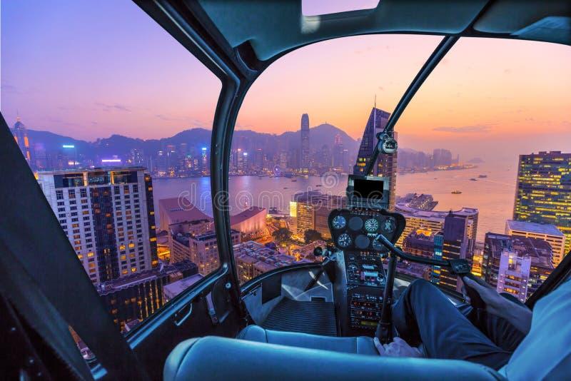 Hong Kong helikopter zdjęcia royalty free