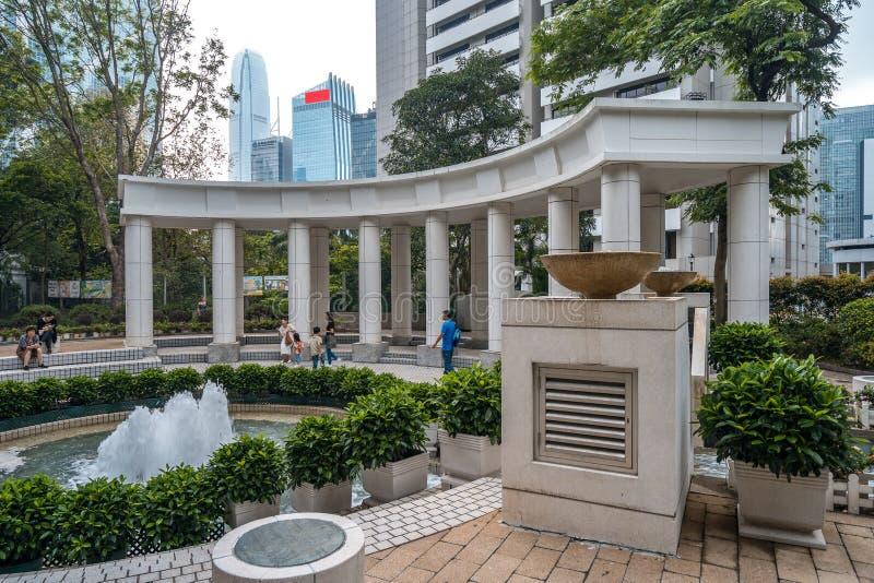 Hong Kong, het park van China - Hong Kong-in het stadscentrum stock fotografie