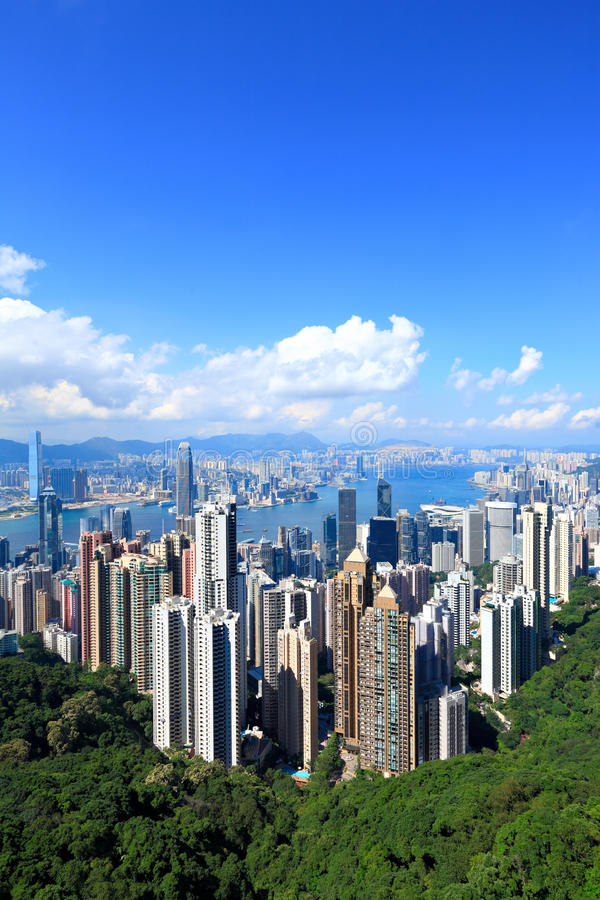 Hong Kong horisont royaltyfri bild