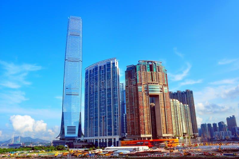 Hong Kong horisonter fotografering för bildbyråer