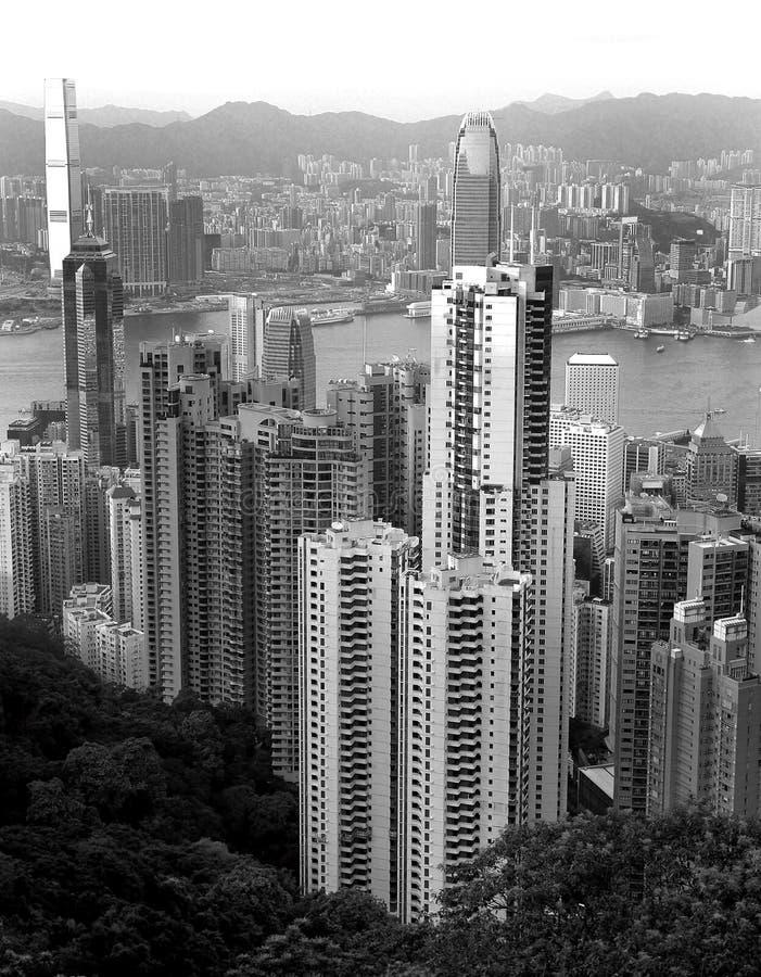 Hong Kong horisonter arkivbild