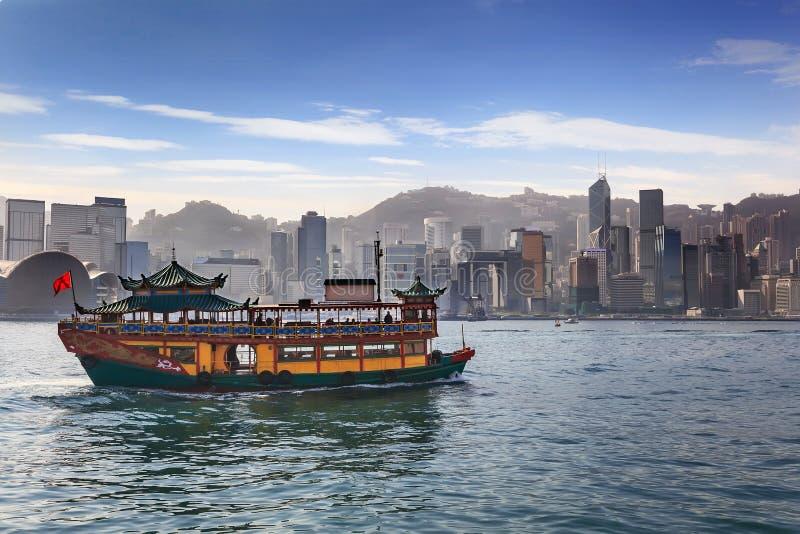Hong Kong-horizon royalty-vrije stock foto