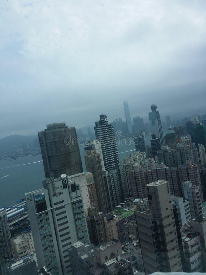 Hong Kong i morgonen royaltyfria foton