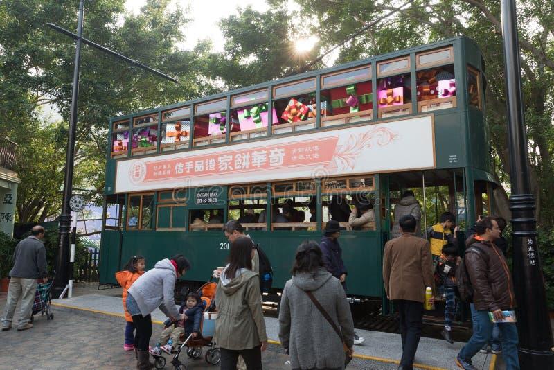 Hong Kong idoso no parque do oceano imagens de stock