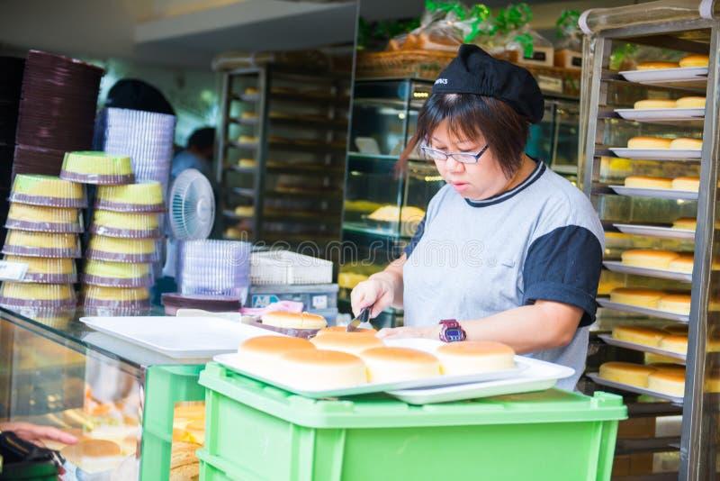 Hong Kong, il 24 settembre 2016:: Fresco cuocia il pane dal forno per fotografia stock libera da diritti