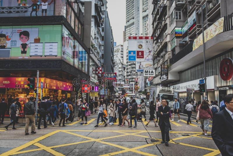Hong Kong, im November 2018 - schöne Stadt stockbild