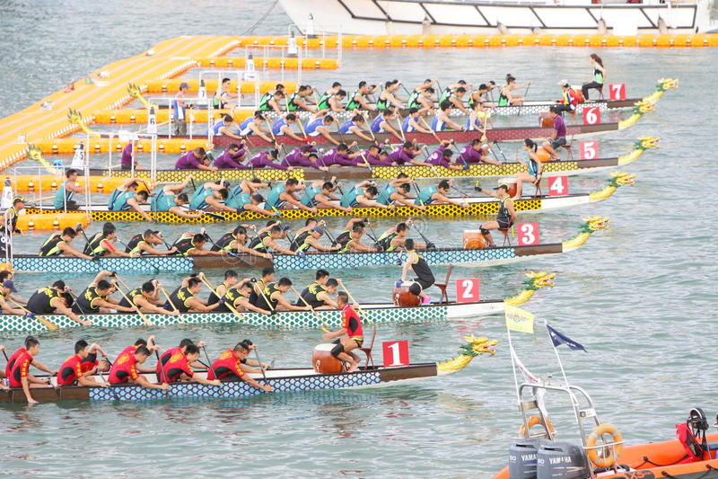 Hong Kong Int ' l Dragon Boat Races 2013 fotografía de archivo
