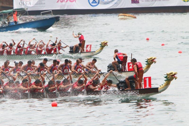Hong Kong Int ' L Dragon Boat Races 2016 stockfotos