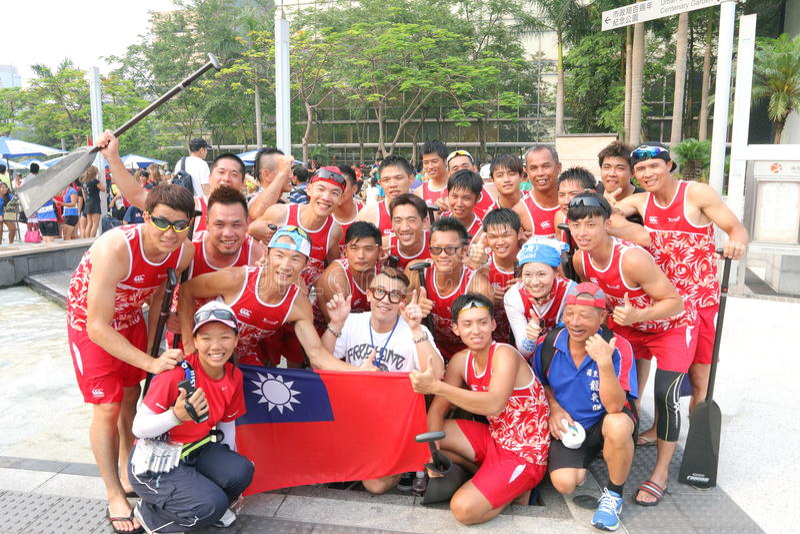Hong Kong Intl Dragon Boat Races 2014 stock photos