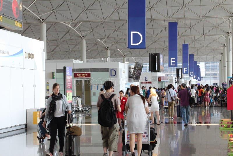 Hong Kong International Airport (HKIA) royaltyfri bild