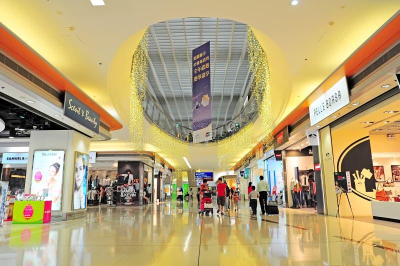 Hong kong international airport shopping area royalty free stock photography