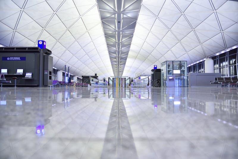 Hong Kong International Airport terminal arkivbild