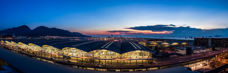 Hong Kong international airport royalty free stock photo