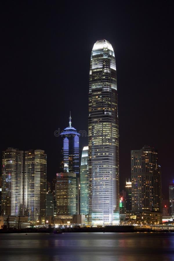 Download Hong Kong International Finance Center At Night Royalty Free Stock Images - Image: 10408359