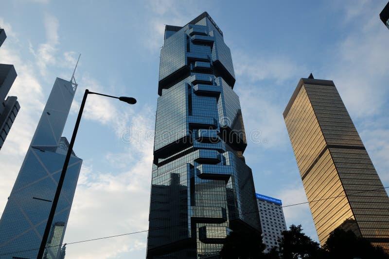 Hong Kong Island de construction ayant beaucoup d'étages photo libre de droits