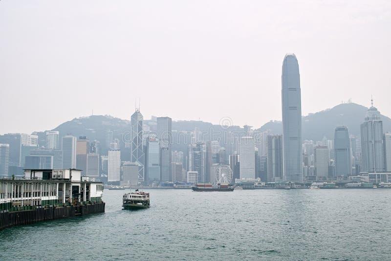 Hong Kong Island Place nublado fotos de archivo libres de regalías